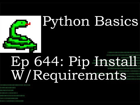 Python Basics Tutorial Pip Install Multiple Modules With Requirements File thumbnail