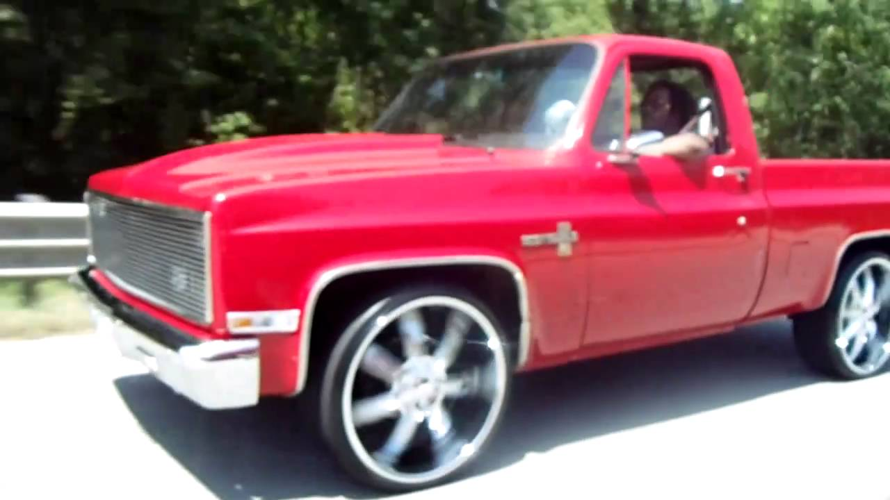 Short Bed Chevy Silverado Truck on 24's - YouTube