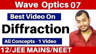 Wave Optics 07 : Diffraction Of Light II Single Slit Diffraction II JEE/NEET Video