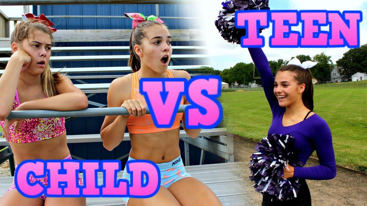 Child You Vs Teen You Cheerleading