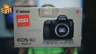 فتح صندوق والتعرف على كاميرا كانون canon eos 6d mark 2