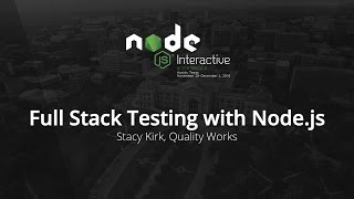 Full Stack Testing with Node.js by Stacy Kirk, Quality Works
