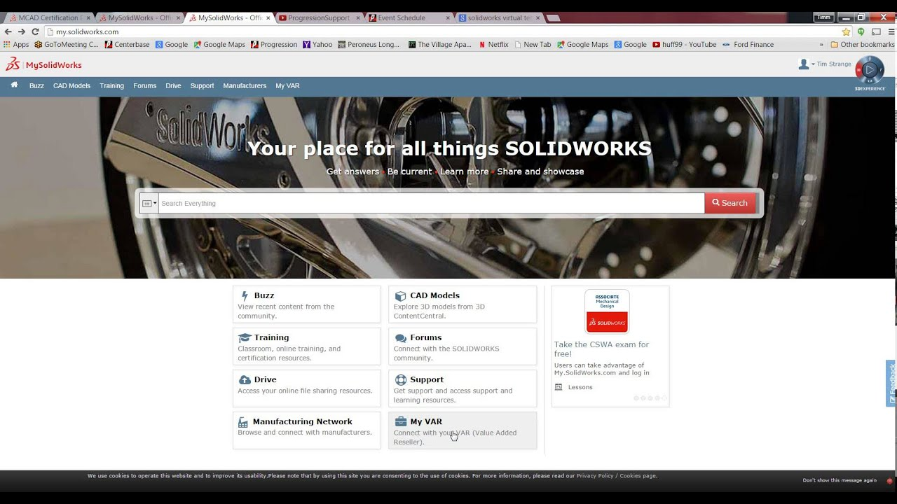 Solidworks certification test your knowledge youtube solidworks certification test your knowledge 1betcityfo Image collections