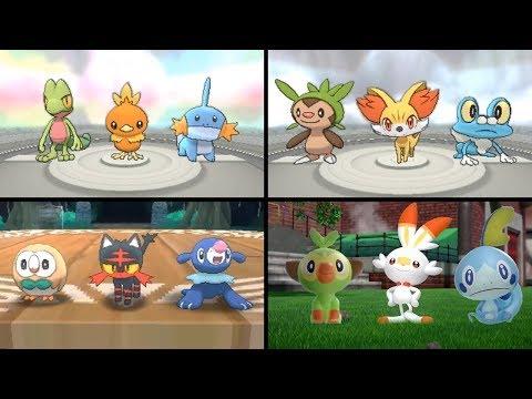 Evolution Of Starter Pokemon (1996-2019)