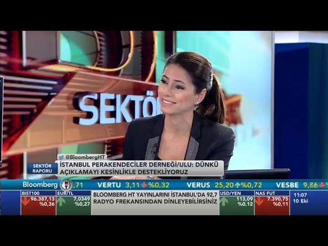 İstanbul PERDER Başkanı Ramazan Ulu/ Bloomberg TV kanalı/SEKTÖR RAPORU programı