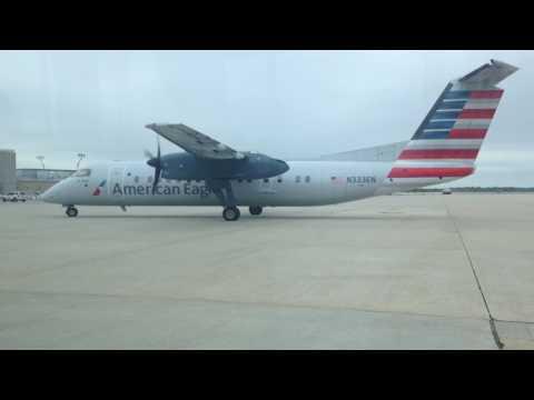American Eagle Dash 8-300 startup at PHL