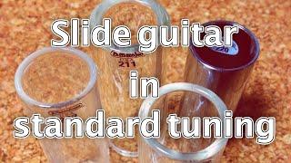 Slide guitar with Jim Dunlop glass slide 211