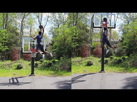 Attempting To Dunk 12 Foot Basketball Hoop