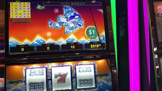 """VGT Slots Polar High Roller """"Red Spin Wins"""" Peace Sign Tee Anchor Stepladder Choctaw Casino"""