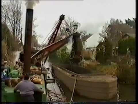 Dredging Operations on the Basingstoke Canal, including the Perseverance dredger, 1993