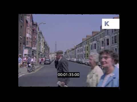 Early 1970s Blackpool in Summer, UK in HD from 35mm