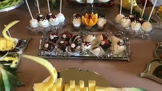 Мои идеи украшения фруктов, десертов на свадьбе
