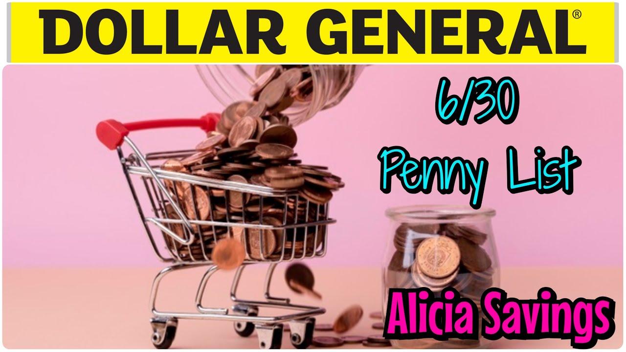 6/30 PENNY LIST !! Dollar General Penny List & NEW Markdowns !!