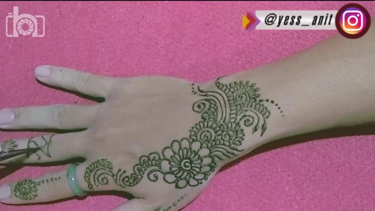 Tutorial Henna Design Mehndi Mudah Dan Simpel Cocok Untuk Pemula By Anit Hinata
