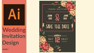 Modern wedding invitation designing in adobe illustrator