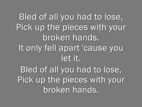 Broken Hands, By: Lamb Of God. (Lyrics)