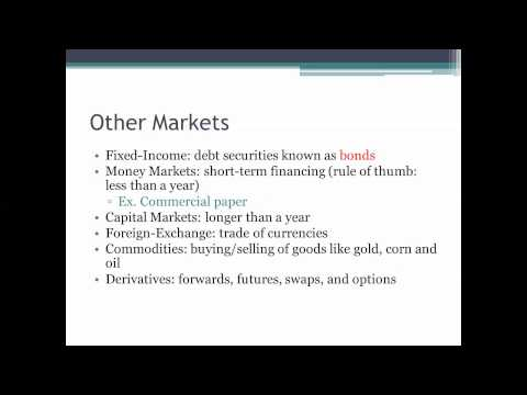 Financial Markets and Intermediaries Video