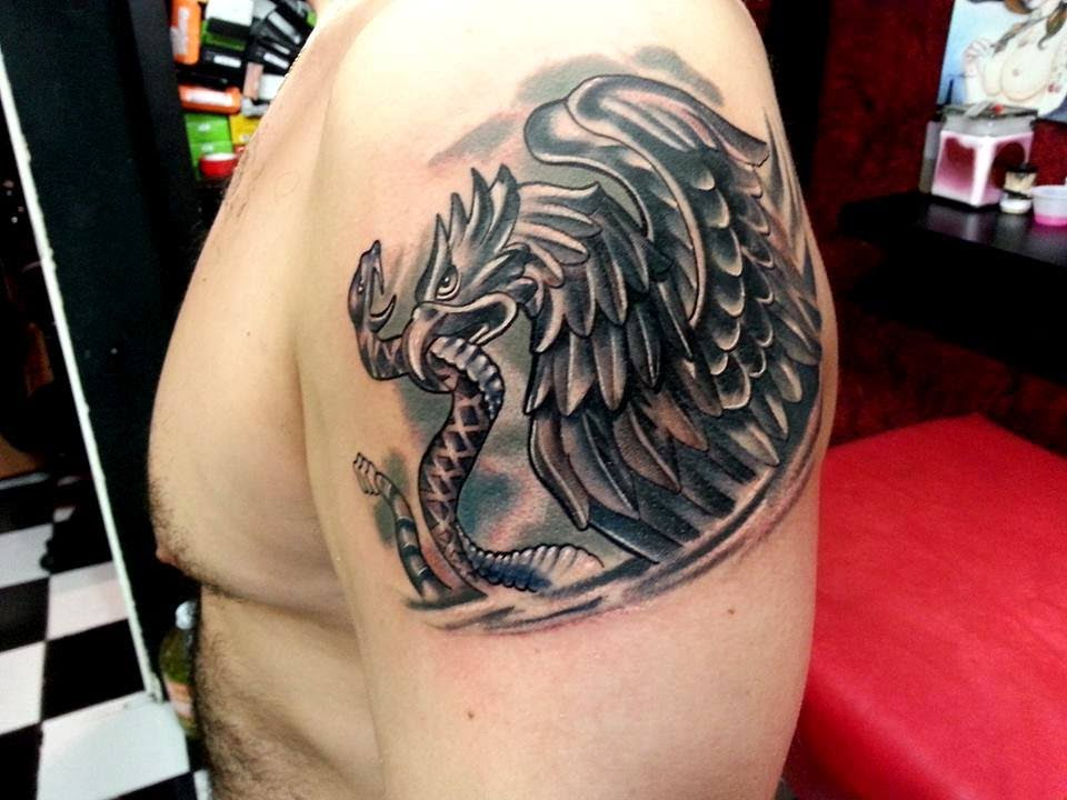 Tatuajes Mexico tatuaje escudo: ricardo antolin - youtube