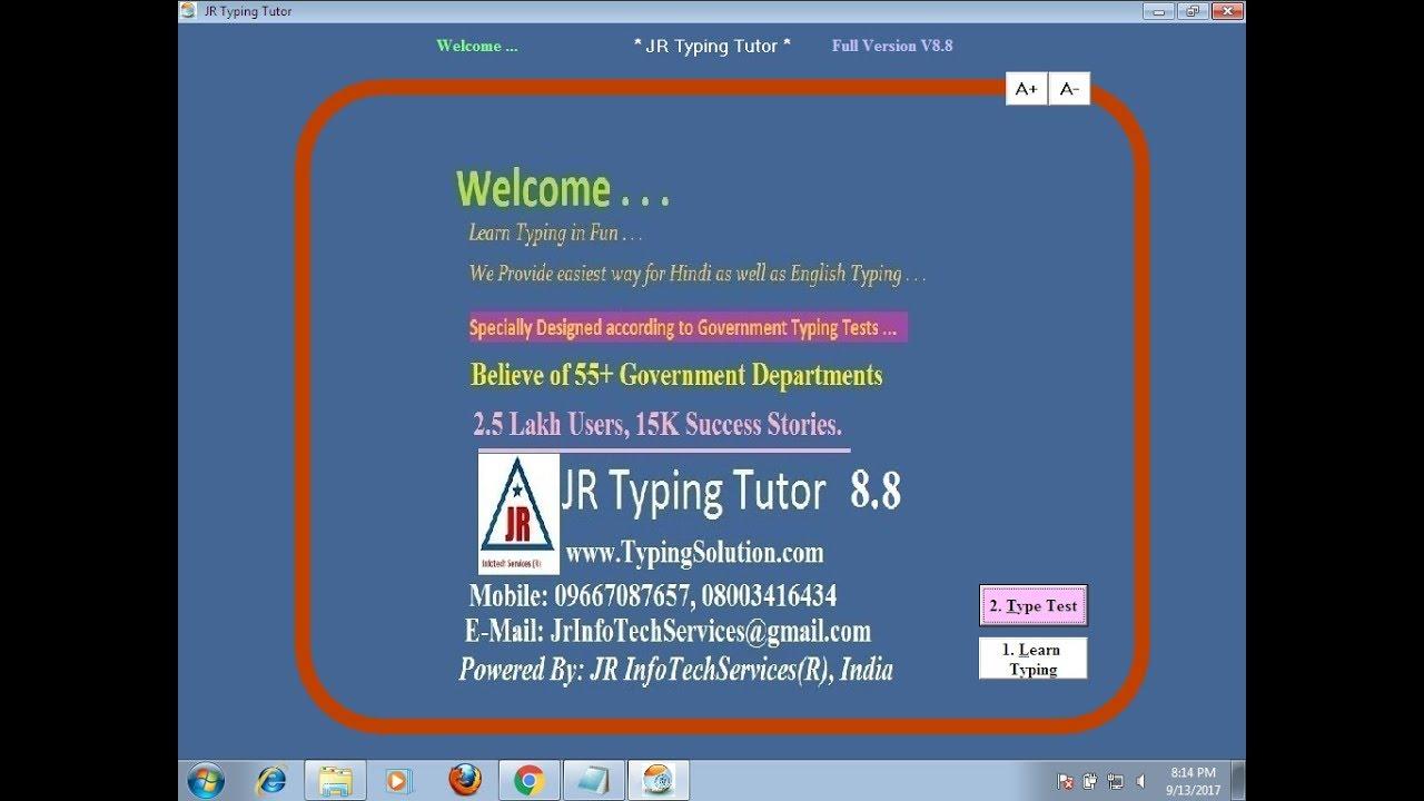 jr typing tutor 9 2