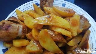 Tavuk# patates # Tavuklu patates yemeği yapımı 👌👍