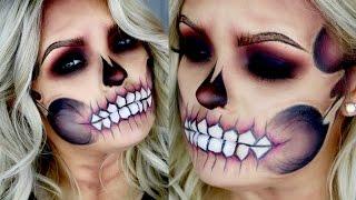 Skeleton / Skull Makeup 2016 - Step by Step Guide   Brianna Fox
