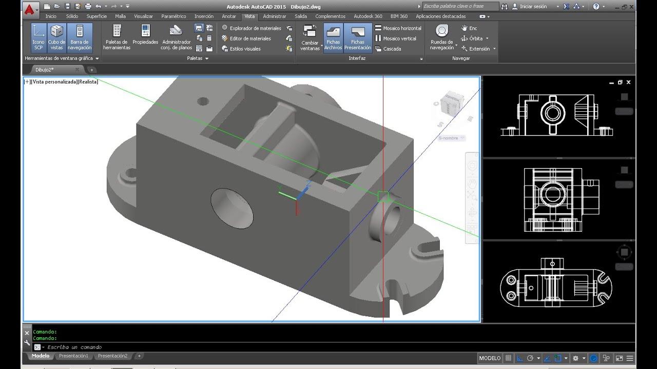 Como hacer un dibujo 3d a partir de un plano en autocad for Hacer planos 3d