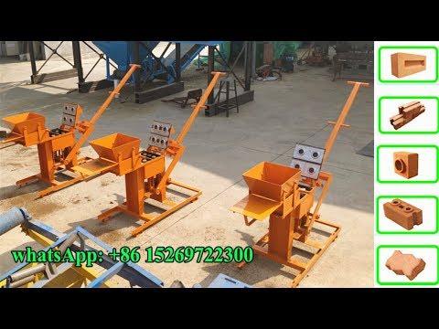 QMR2-40 Small Business Manual Clay Interlock Hollow Block Machine From Makiga