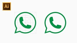 How to Draw Phone Icon Using Grid - Adobe Illustrator