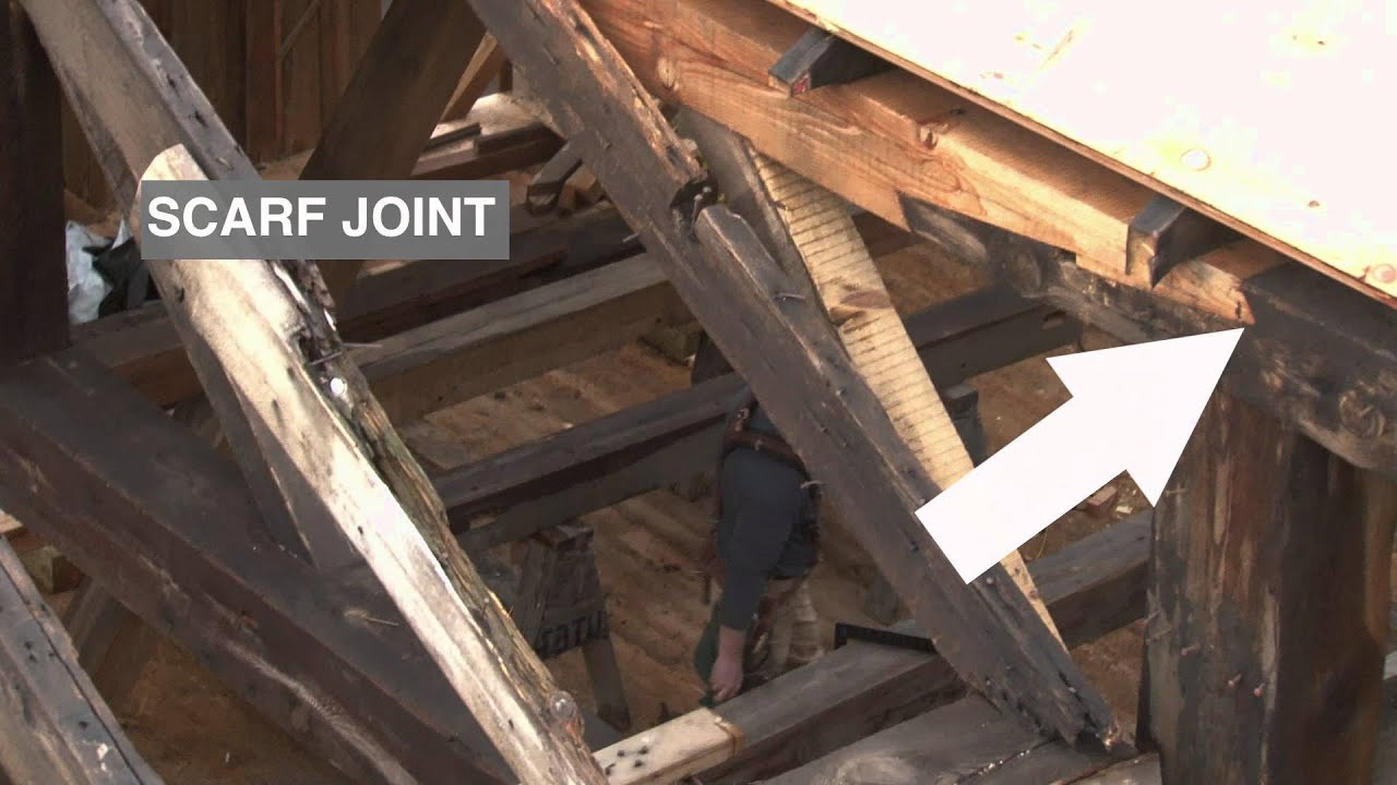 Scarf Joint Repair In A Rafter Plate Youtube