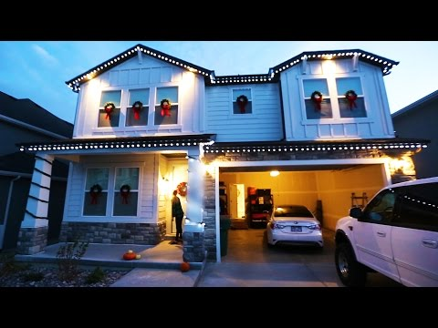 Christmas Lights On Our New House! || Ep 135