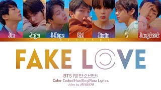 Скачать BTS 방탄소년단 FAKE LOVE Color Coded Lyrics Eng Rom Han