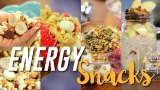 4 ENERGY BOOSTING snack ideas for when you're feeling tired!