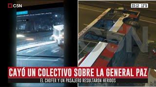 Un colectivo cayó sobre la Avenida General Paz en Mataderos