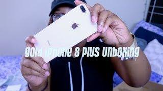 Gold iPhone 8 Plus Unboxing!!