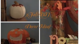 3 Easy Fall DIY Decor Ideas! Thumbnail