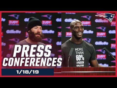 Julian Edelman & Jason McCourty AFC Championship Week Press Conferences