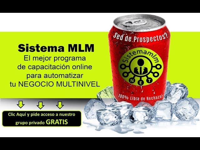 NEGOCIOS MULTINIVEL - SISTEMA MLM PROGRAMA INTENSIVO