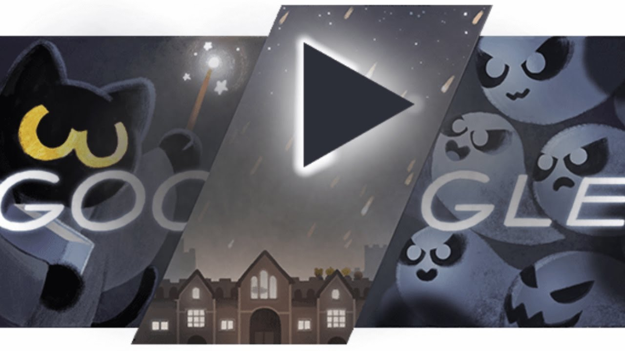 google cat halloween game happy halloweeeen 2016 youtube