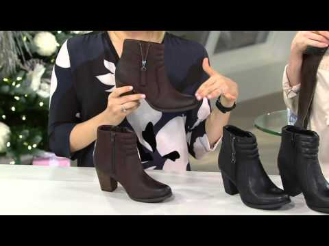 Trina Boots Or Leather Ankle Qvc Clarks On Palma Nubuck Artisan FgPqn7w0