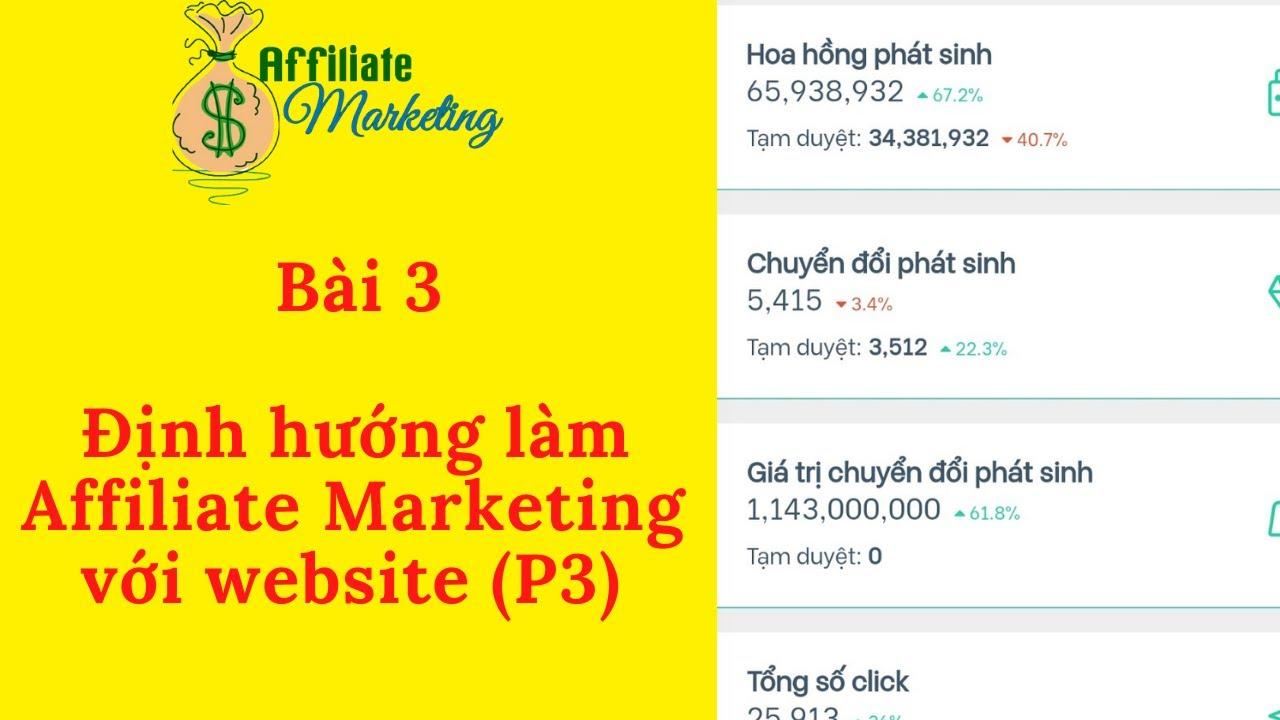 Bài 3: Xác định thị trường ngách làm Affiliate Marketing với Website