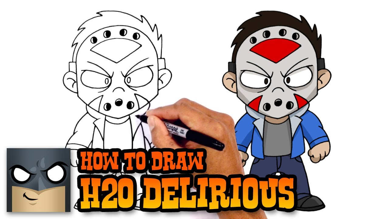 How to Draw H2O Delirious | Drawing Tutorial - YouTube H20 Delirious Drawings