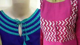 Stylish new neck designs | Latest new neck designs for churidar suits | 2018/2019 | R Fashion Colors