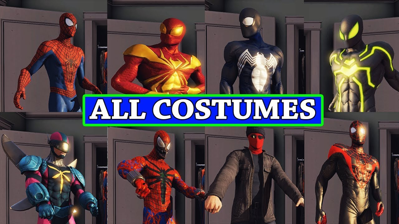 The Amazing Spider-man 2 All Costumes + DLC & The Amazing Spider-man 2 All Costumes + DLC - YouTube