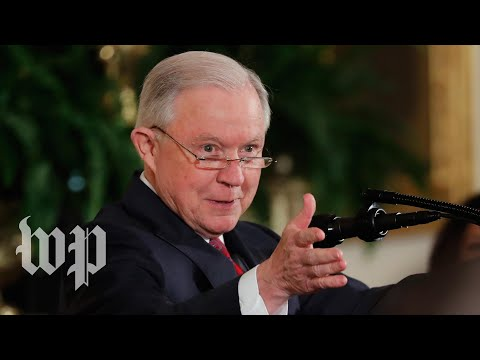 Sessions delivers remarks to state attorneys general