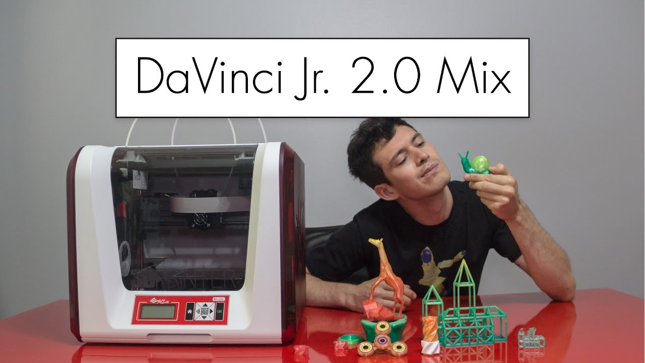 Blending Colors with the DaVinci Jr  2 0 Mix // 3D Printer Review
