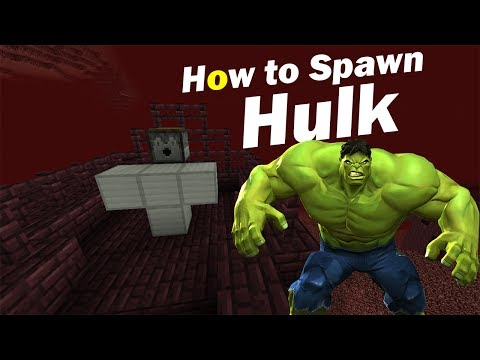 HOW TO SPAWN HULK   Minecraft PE