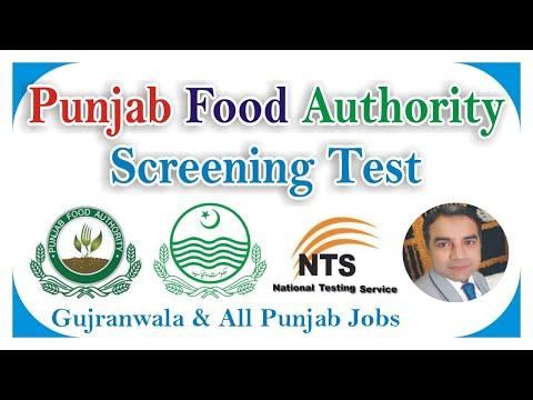 NTS Punjab Food Authority Screening Test Say Job City, Видео