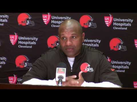 Cleveland Browns coach Hue Jackson on cutting Paul Kruger, others: We're going to coach who is here