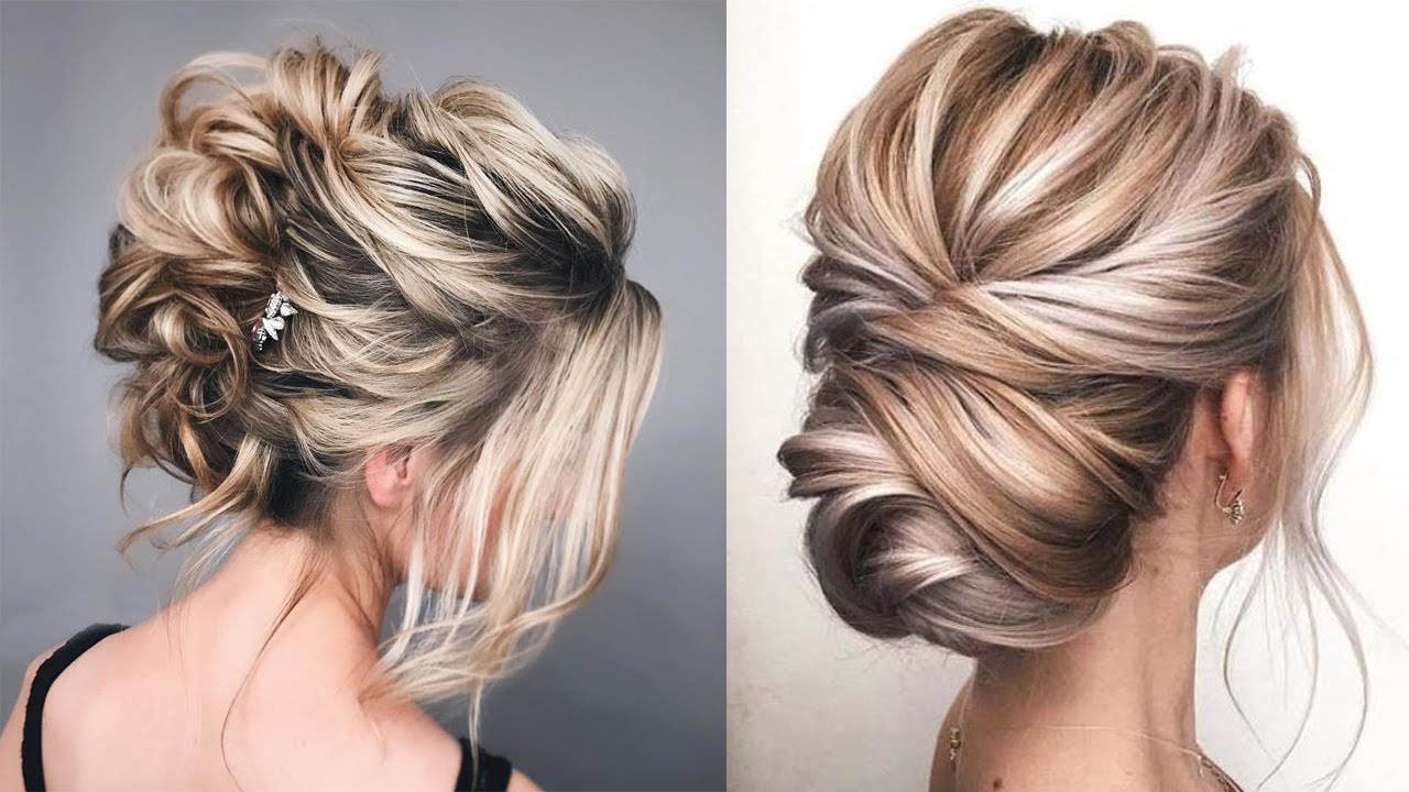 How To Simple Updo Bridesmaid Hairstyles 2019 Youtube