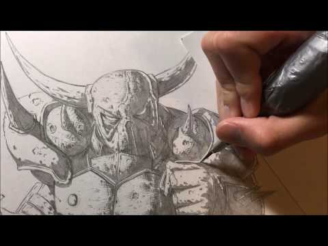 How to Draw P.E.K.K.A from Clash of Clans